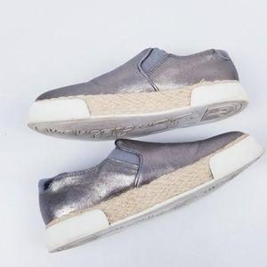 Sam Edelman 6 M Silver Slip On Sneakers